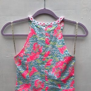"""Lilly Pulitzer Dresses - LILLY PULITZER Pearl neon """"Lobstah Roll"""" dress"""